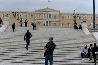 Всички ограничителни мерки срещу коронавируса в Гърция се удължават с една седмица, до 1 февруари СНИМКА: Ройтерс