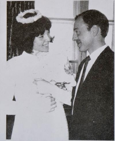 Тодор Колев и Адриана Палюшева на сватбата им.
