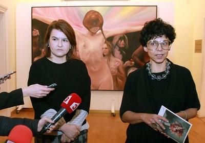 """Директорката на Националната галерия Яра Бубнова свика предконференция на която да разтълкува замисъла на художничката за """"Вечеря натюрморт""""."""