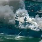 """В момента на избухването на пожара на борда на кораба """"Боном Ричард"""" е имало 160 моряци и офицери, които според Собек са реагирали отлично на възникналата ситуация. Кадър и видео Ютюб"""