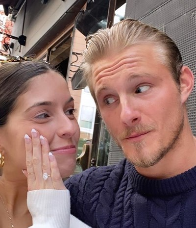 Канадският актьор Александър Лудвиг се сгоди за приятелката си Лорън Диър. СНИМКА: Инстаграм/alexanderludwig