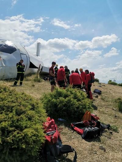 Планинските спасители от Сандански тренират за мащабното учение утре. СНИМКИ: ПСС-САНДАНСКИ