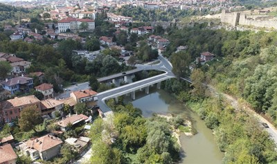 По проекта ще се изграждат два нови моста под Царевец СНИМКА: Община Велико Търново