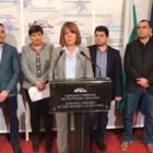 Йорданка Фандъкова заедно с депутатите от ГЕРБ, които внесоха предложените промени в НК.