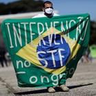 Демонстрация в подкрепа на бразилския президент Болсонаро Снимка: Ройтерс