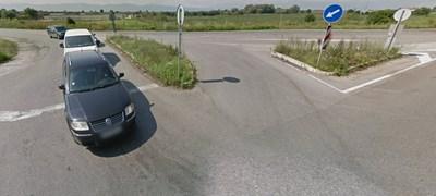 Разклонът за село Мусачево Снимка: Гугъл стрийт вю
