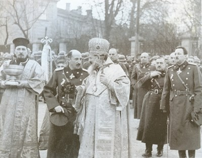 Цар Борис III и Софийският митрополит Стефан на Богоявление през 1942 г. все още са в добри отношения.