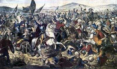 Битката на Косово поле. Художник Адам Стефанович, 1870 г.