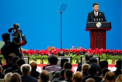 """Китайският президент Си Цзинпин на откриването на втория форум за международно сътрудничество """"Един пояс, един път""""  СНИМКА: Ройтерс"""