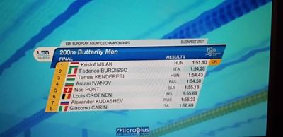 Антъни Иванов е 4-и в Европа, 7 стотни го лишиха от медал (Снимки)