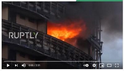 По предварителна информация няма пострадали. Кадър: YouTube