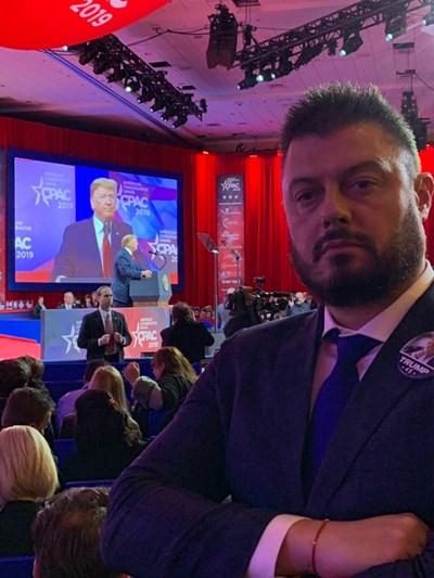Преди дни Бареков бе гост на  конгреса на Републиканската партия (CPAC 2019) в Ричмънд, щата Мериленд.