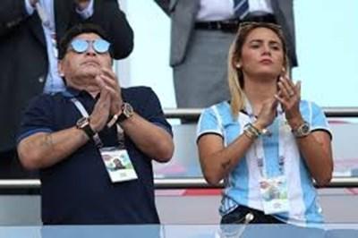 Диего и Рокио бяха заедно на световното в Москва.