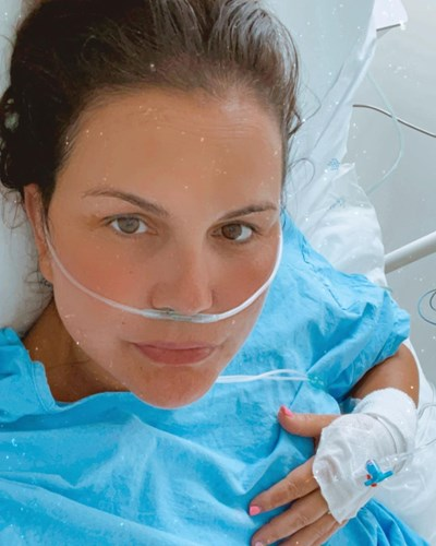 Катя Авейро се показа от болничната стая