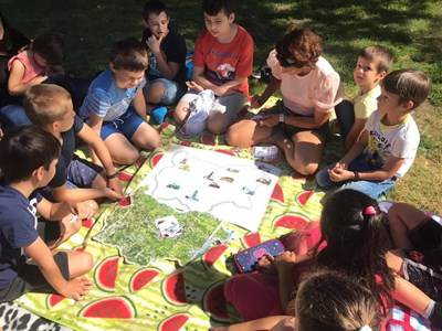 Сърцето ми е тук - рисунка на децата от Българско училище Фрайбург
