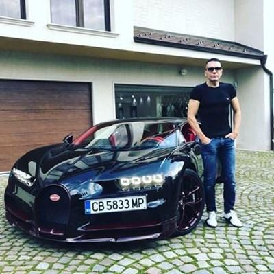 """Собственикът на транспортната фирма """"Биомет"""" Ваньо Алексиев показа преди няколко дни в инстаграм новото си Bugatti Chiron"""