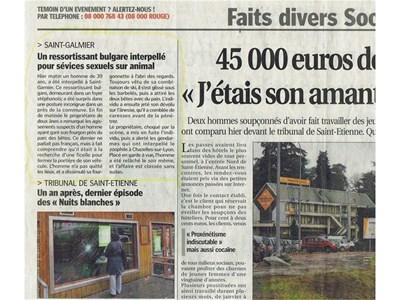 """Факсимиле от френския в. """"Ле прогрес"""", в който е описана историята. СНИМКА: РОЙТЕРС"""