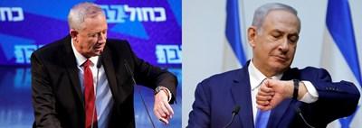 Двамата опоненти Бени Ганц и Бенямин Нетаняху СНИМКА: Ройтерс