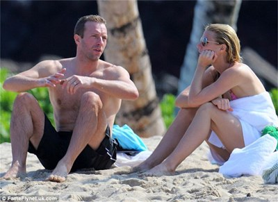 Актрисата и съпругът й Крис Мартин преди време са се гледали влюбено.