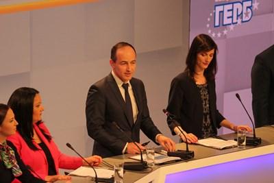 Андрей Новаков представи част от приоритетите на ГЕРБ в новия европарламент в областта на външната политика. Снимка РУМЯНА ТОНЕВА