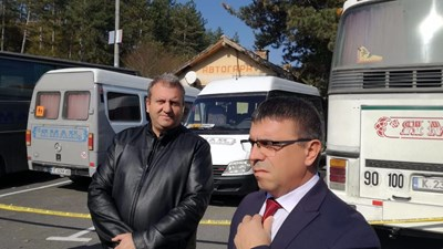 Окръжният прокурор Желязко Стефанов и директорът на ОД на МВР Атанас Илков СНИМКА: Ненко Станев