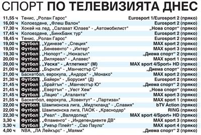 """Спорт по тв днес: Пиронкова играе със Серена на """"Ролан Гарос"""", футбол в Шампионската лига, мачове в Германия, Англия, Италия и Испания,  финал в НБА, хокей на лед, колоездене"""