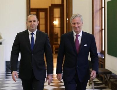 Румен Радев на среща с краля на Белгия СНИМКА: прессекретариат на президента