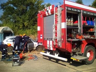 Служителите на пожарната в Монтана представиха тактическо учение на професионалния си празник