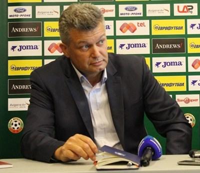 Председателят на съдийската комисия към БФС Петър Петров. СНИМКА: ЛЕМАН САЛИ