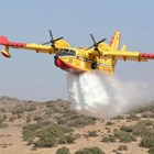 Хеликоптер гаси пожар в Гърция Снимка: Civil Protection Authority