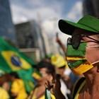 Демонстрация в Бразилия в подкрепа на президента Болсонаро Снимка: Ройтерс