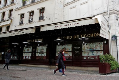 Терасите на заведенията във Франция ще бъдат отворени от 19 май СНИМКА: РОЙТЕРС