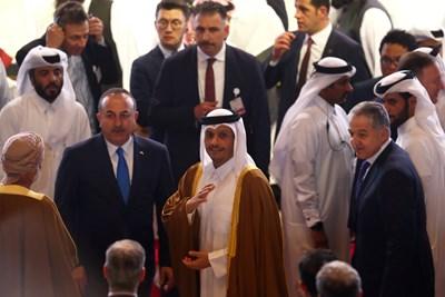 Катарският вицепремиер и министър на външните работи шейх Мохамед бин Абдулрахман ал Тани. Снимка: Ройтерс
