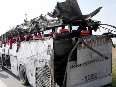 Автобусът е истинска развалина преди катастрофата. СНИМКА: Атанас Кънев