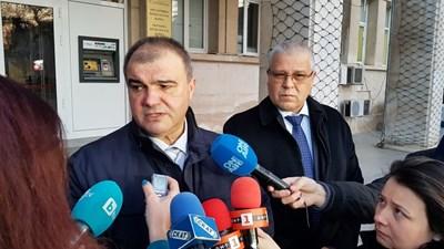 Окръжният прокурор на Варна Красимир Конов (вляво) и директорът на ОД на МВР в морската столица Даниел Пашов
