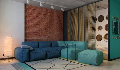 Съвкупността от стилове и цветове прави жилището много интересно Снимки design-homes.ru
