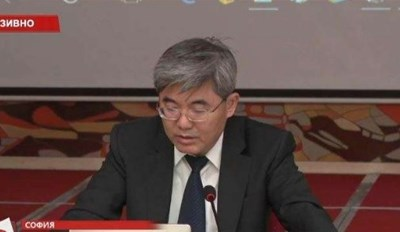 Китайският посланик Джан Хайджоу  Кадри : Канал 3