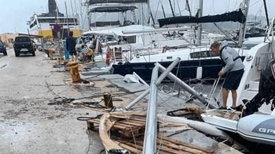 Природното бедствие е нанесло сериозни материални поражения. Снимка: Туитър/ Greekcitytimes