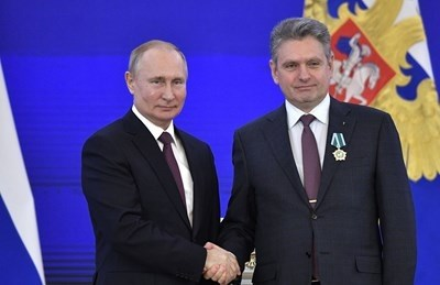 Николай Малинов получи орден от Владимир Путин през ноември 2019 г.