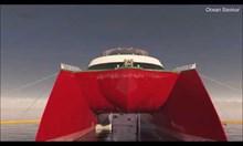 Проектираха кораб, който рециклира океанските отпадъци в гориво.