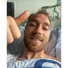 Първото селфи на Кристиан Ериксен от болницата