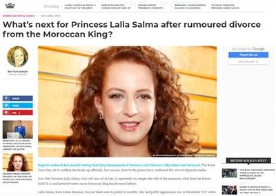 Принцеса Салма Факсимиле: royalcentral.co.uk
