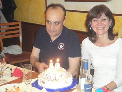 Бонисоли и съпругата му Лучия Велева. СНИМКА: Фейсбук