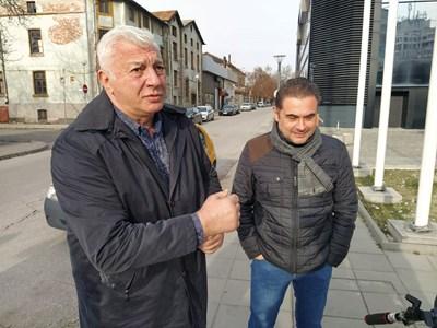 Кметът Здравко Димитров и заместникът му Пламен Райчев