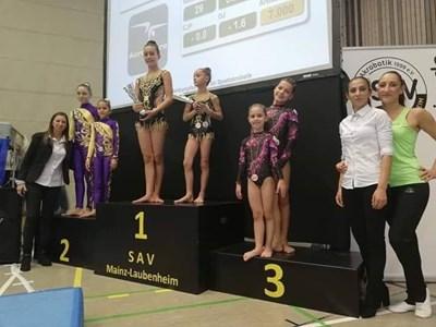 Бургазлийчета се класираха на челните три места  в международния турнир по акробатика, в категория 6-14 г.