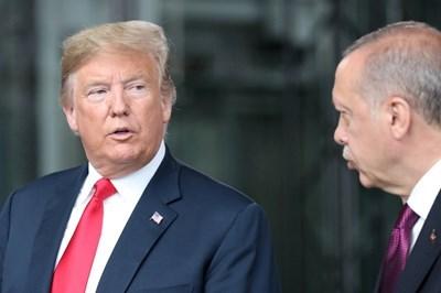 Доналд Тръмп и Реджеп Ердоган  СНИМКА: Ройтерс