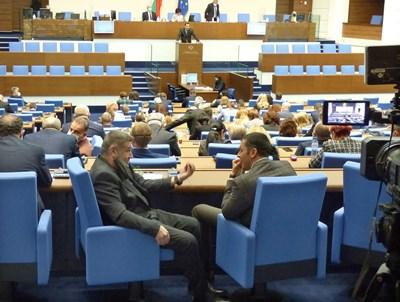 Депутатите приеха единодушно и без дебати на второ четене Закона за филмовата индустрия. СНИМКА: Румяна Тонeва