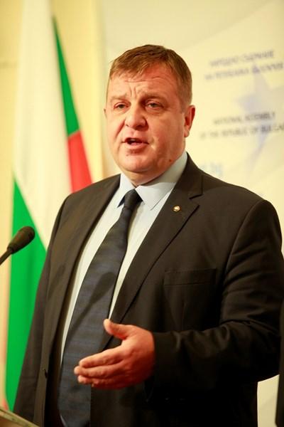 Вицепремиерът Красимир Каракачанов СНИМКА: АРХИВ