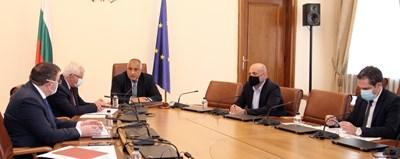 Работното съвещание при премиера Бойко Борисов Снимка: МС