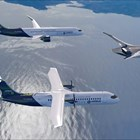"""Компанията показа прототипите на 3-те самолета.  СНИМКА: """"ЕЪРБЪС"""""""